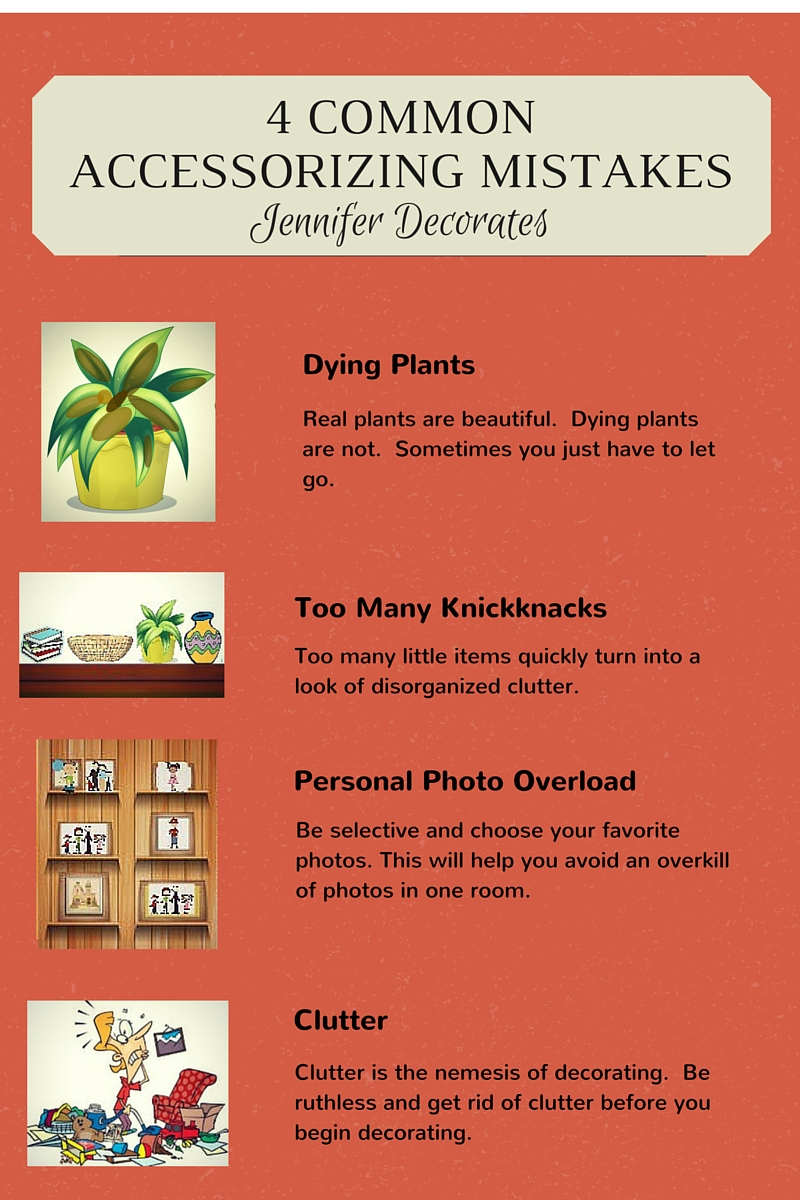 Accessorizing ideas you can't live without! From Jennifer Decorates.com