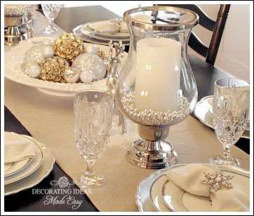 Christmas Table Setting Ideas Create A White Christmas Table