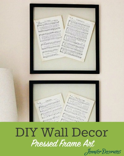 DIY Wall Decor ideas - make your own pressed glass frame art.  Jenniferdecorates.com