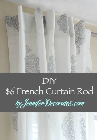 DIY French Curtain Rod