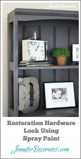 DIY Restoration Hardware look using spray paint.  Cheap and Easy.  Jennifer Decorates.com