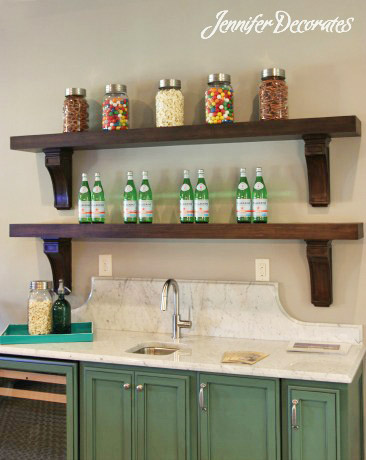 You can accessorize a beautiful bookshelf! Jenniferdecorates.com