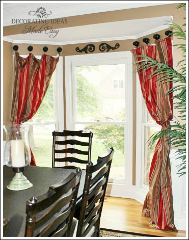 Bay window treatments that won 39 t break your budget - Ideas of window treatments for bay windows in dining room ...