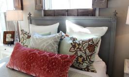 Beautiful bedroom decorating ideas from JenniferDecorates.com