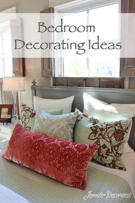 Bedroom Decorating Ideas from JenniferDecorates.com