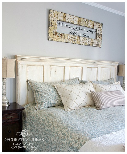 Bedroom Headboard Ideas Brilliant With New Old Door Headboard Image