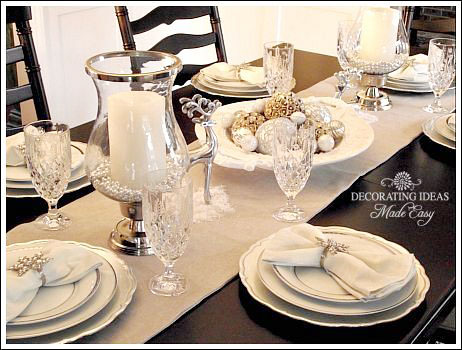 great christmas table setting ideas create a white christmas table with table setting ideas. & Table Setting Ideas. Interesting Inspiring Rustic Christmas Table ...