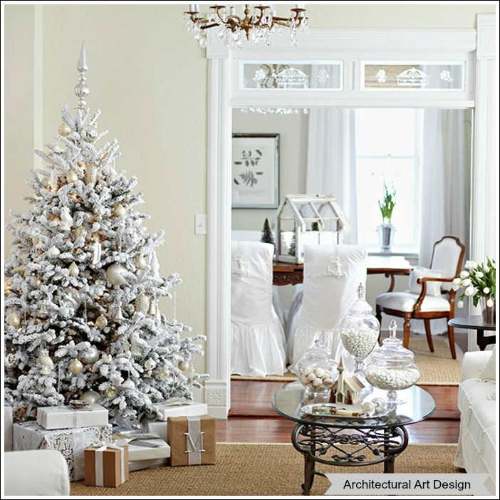 Themed White Christmas Trees Christmas Tree Theme