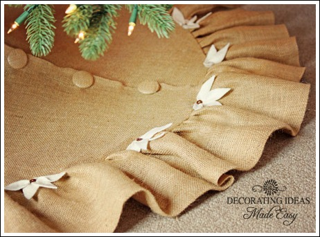 christmas tree skirt pattern that is easy and gorgeous - Christmas Tree Skirt Pattern