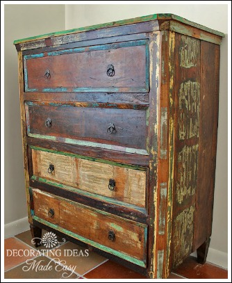 Distressed painted furniture ideas for Cottage style furniture