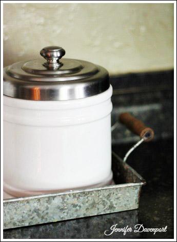 Accessorizing a kitchen from Jenniferdecorates.com