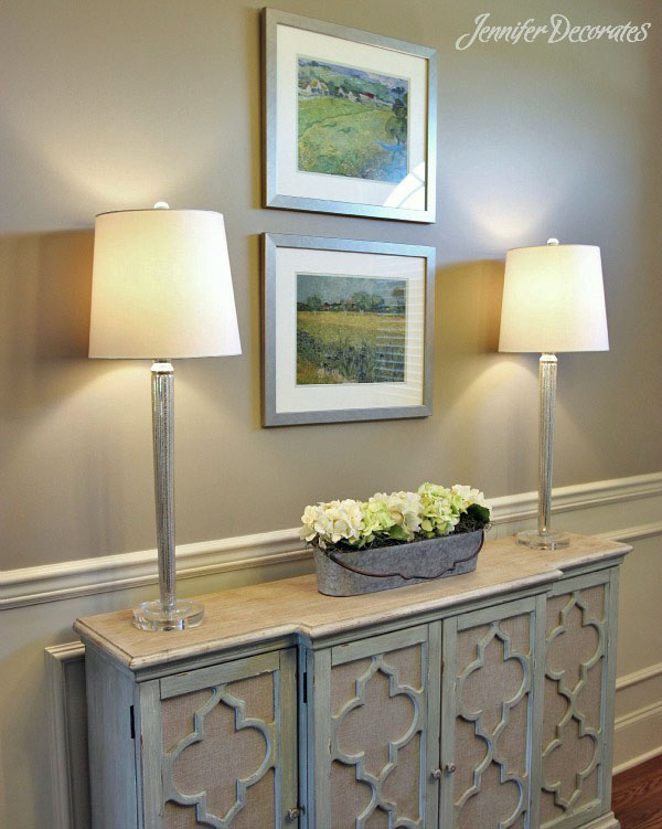 Cottage style decorating ideas from Jennifer Decorates.com