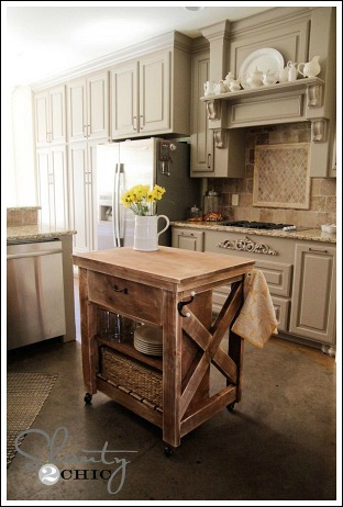 Want To Build Your Own Pottery Barn Style Kitchen Island Then Go Visit Shanty Chic For A Fabulous Tutorial On How To Make This Cottage Island For 85