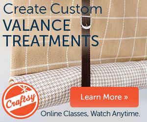 Craftsy Window Valance Class