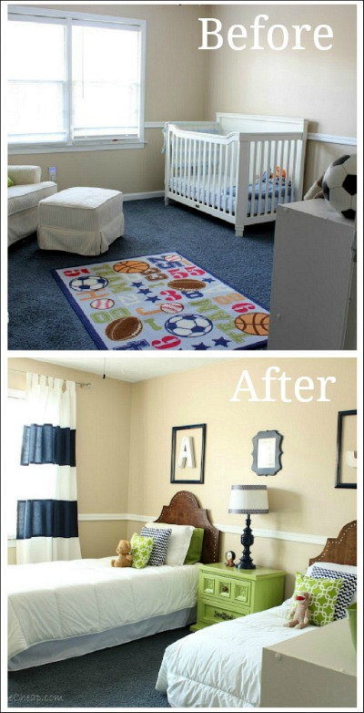 Before and after decorating pictures for Bedroom decor pictures