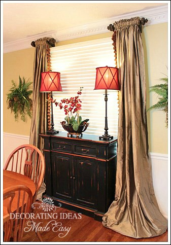 Dining room decorating ideas to create an inviting room for Dining room curtain ideas