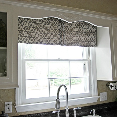 DIY Modern Kitchen Curtain Jennifer Decorates