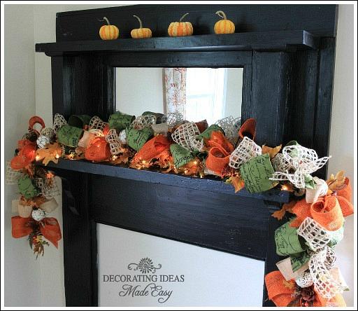 Fall Mantel Decorating Ideas – Fall Mantel Decorations