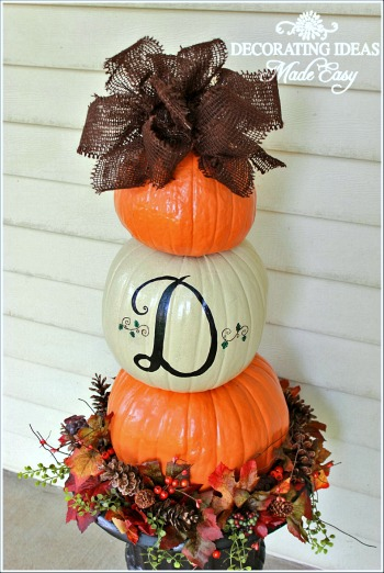 Make A Pumpkin Topiary For Your Front Porch