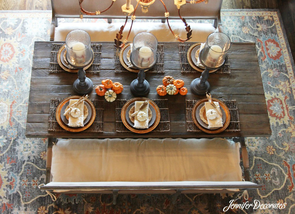 Lovely Fall Table Decorations From A Birdu0027s Eye View