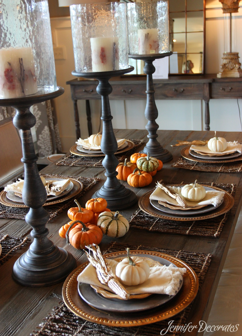 Fall table decorations that are easy and affordable for Pictures of fall table decorations