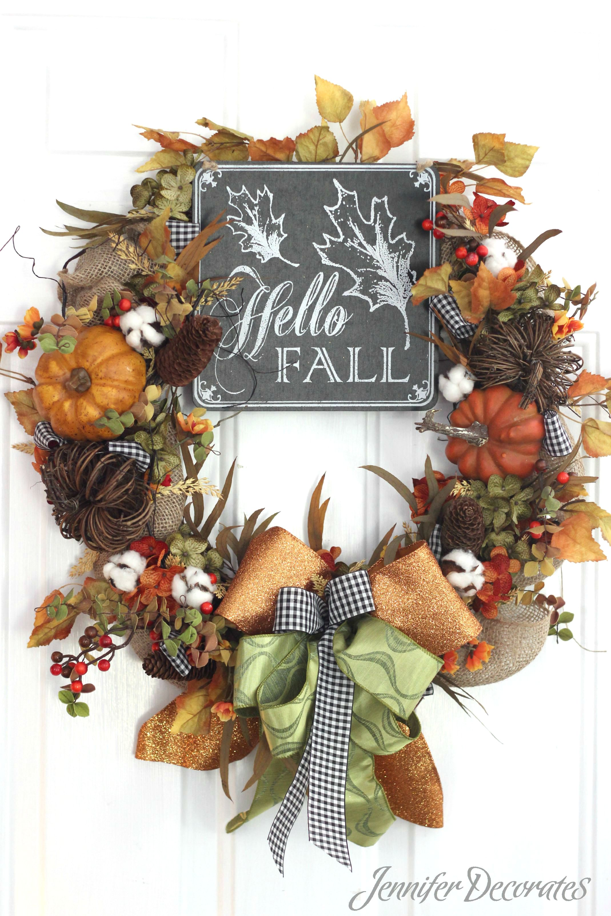 Wreaths For Fall, Learn to Make a Wreath!