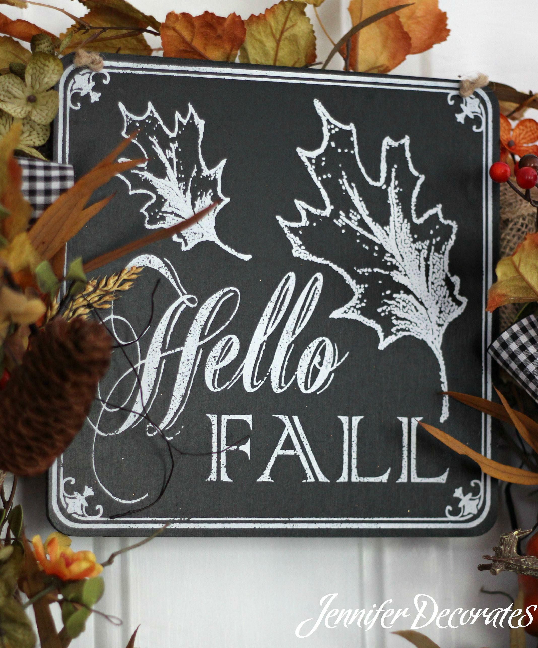 Fall wreath ideas from Jennifer Decorates.com