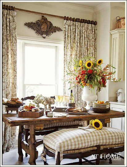 window treatments should be near the top of your french country decorating list they are essential in creating the french look - Country French Decor