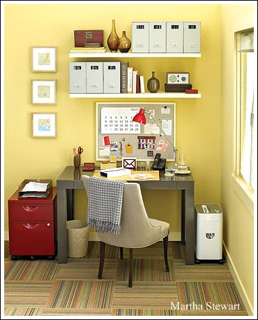 Home office decorating ideas create a comfortable working for Office organization tips and ideas