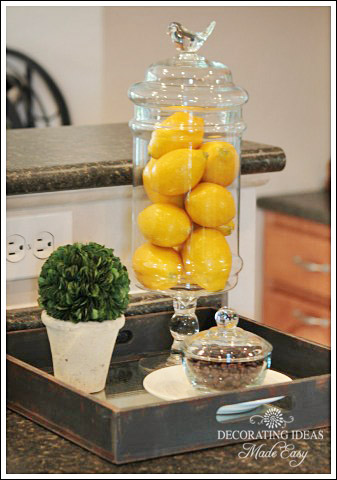 Kitchen decorating ideas you will love for Small kitchen table centerpiece ideas