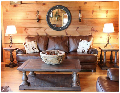 Log Cabin Living Room Before and After s