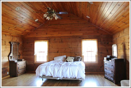 Living Room Decorating Ideas Log Cabin log home decorating ideas - before and after photos
