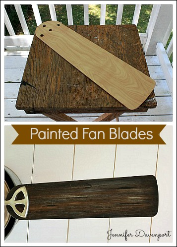 Painted Fan Blades Give Your Fan Blades A Faux Wood Look
