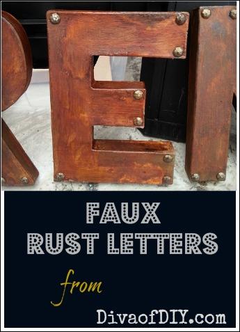 paper mache letters cool faux rust letters