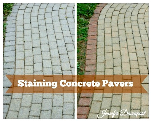 Concrete Patio Pavers Concrete Stain Ideas For An Update