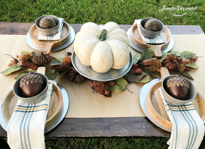 Decorating ideas archives jennifer decorates - Thanksgiving table setting ideas ...