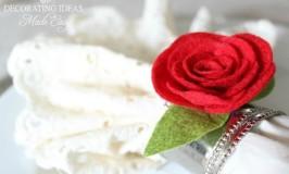 valentine rose napkin ring