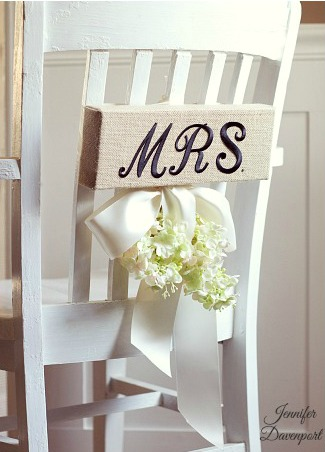 Wedding Chair Decorations – Beautiful and Inexpensive Idea!