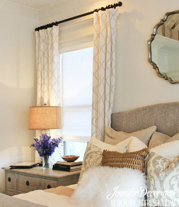 Window treatment ideas from Jennifer Decorates.com