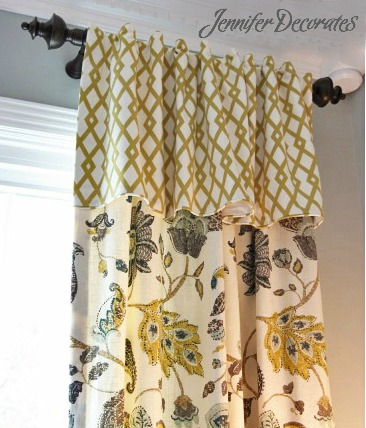 window curtain with valance