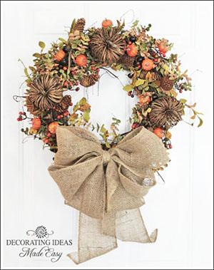 fall decorating ideas - make a fall wreath