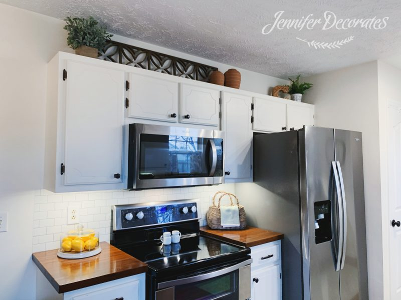 How To Decorate Above Kitchen Cabinets Jennifer Decorates